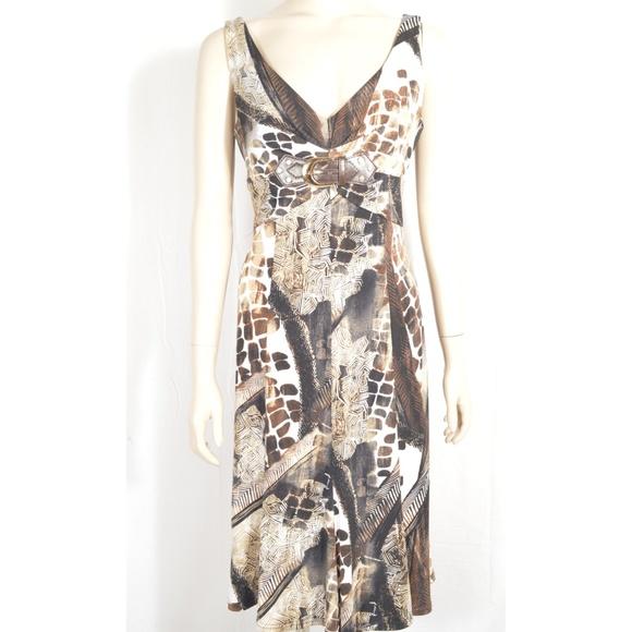 Joseph Ribkoff Dresses & Skirts - Joseph Ribkoff dress SZ 8 sleeveless white brown t
